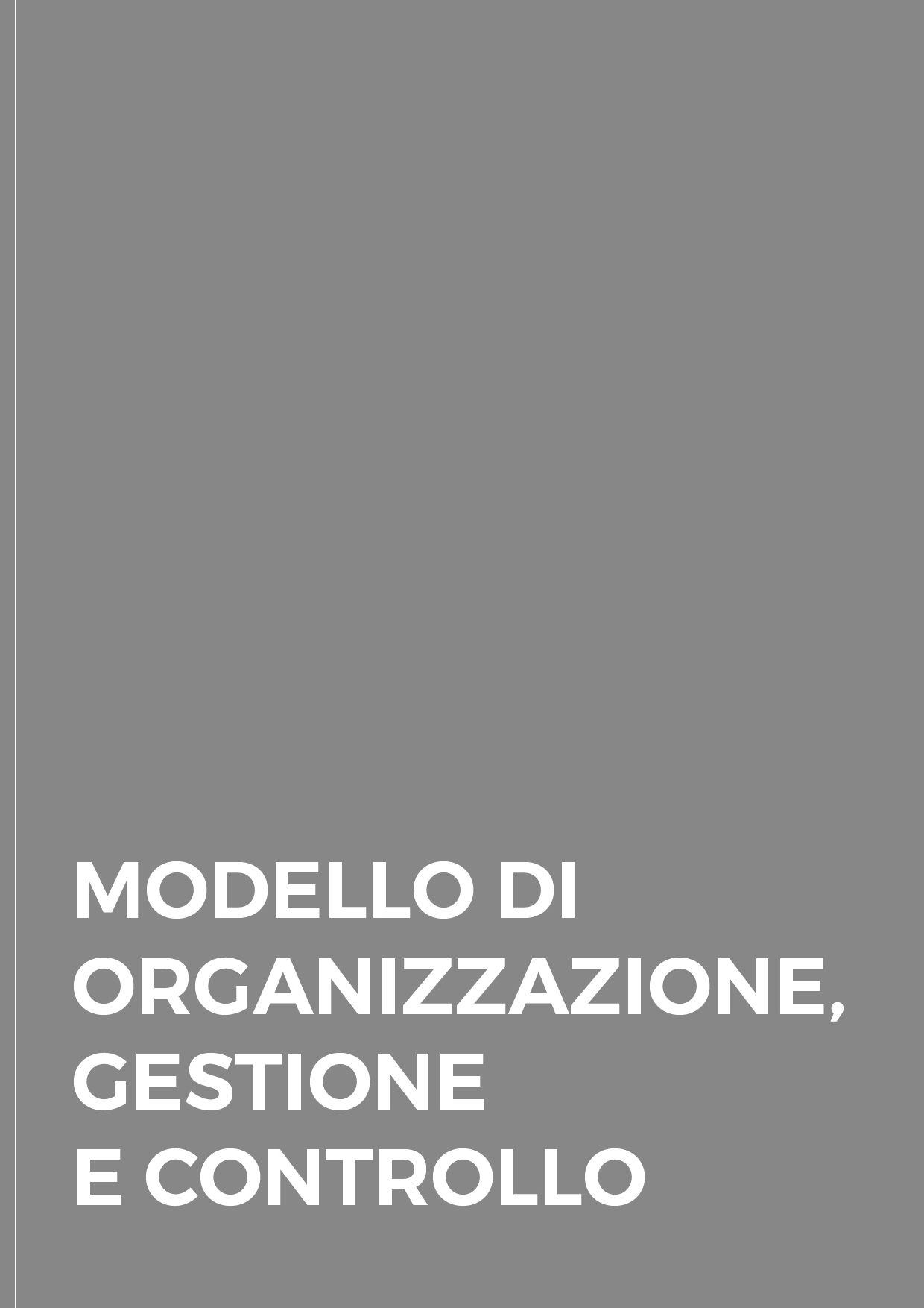 Modello di Organizzazione, Gestione e Controllo - SICILIANI SPA